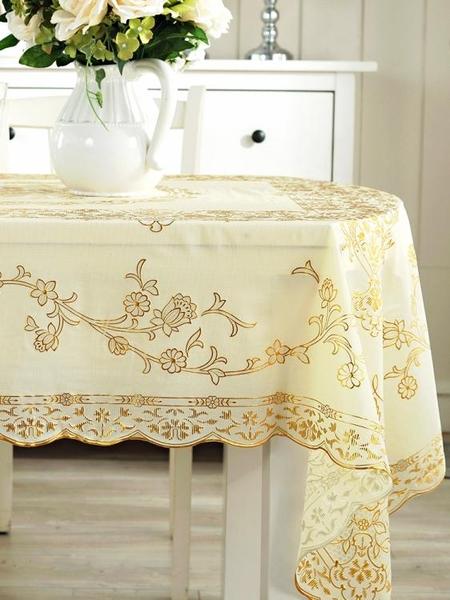 餐桌布 可折疊伸縮桌橢圓形桌布防水防燙防油免洗PVC歐式家用茶幾餐桌布