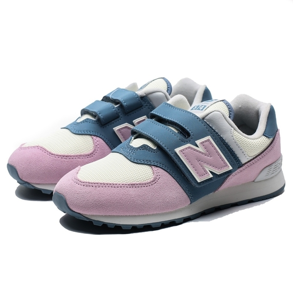 NEW BALANCE 574 白粉藍 麂皮  黏帶 運動鞋 慢跑鞋 童鞋 中童 (布魯克林) YV574JHG