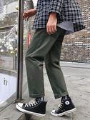 男褲ins工裝褲子男韓版潮流港風寬鬆九分休閒褲學生潮牌直筒闊腿 俏女孩