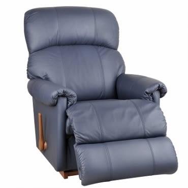 La-Z-Boy 搖椅式休閒椅 10T559 半牛皮 藍色