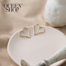 Queen Shop【07030615】愛心造型耳針式耳環*現+預*