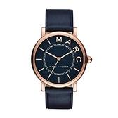 Marc Jacobs M.A.R.C 當代腕錶(MJ1534)-深藍x玫塊金框