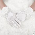 新娘手套結婚手套婚紗手套紅色緞布