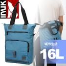 【INUK 加拿大 16L城市生活電腦背包《海報藍》】IKB50716185042/後背包/背包