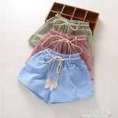 女童短褲 女童棉麻短褲夏裝童裝新款中大童小女孩夏季寬鬆薄款外穿褲子 傾城小鋪