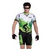 自行車衣套裝-含短袖腳踏車服+單車褲-超薄透氣彈力柔軟男運動服69u2【時尚巴黎】