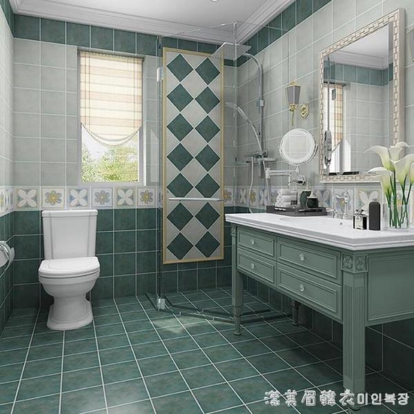 仿古磚地面貼紙防水耐磨廚房客廳地板貼衛生間自粘地板翻新貼防滑 NMS美眉新品