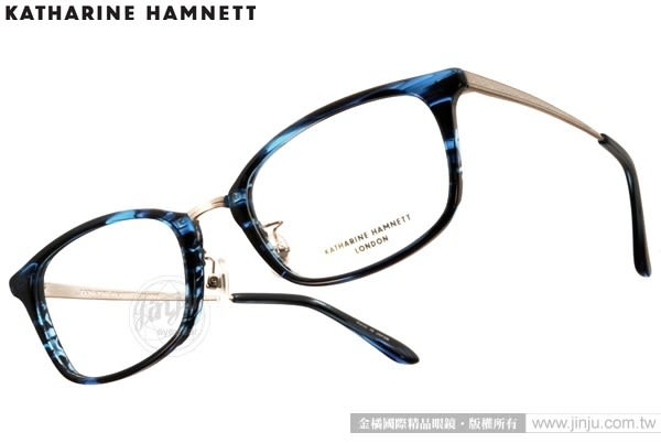 KATHARINE HAMNETT 眼鏡 KH9139 C01 (藍-銀) 日本工藝熱銷百搭款 # 金橘眼鏡