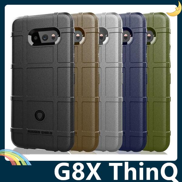 LG G8X ThinQ 護盾保護套 軟殼 鎧甲盾牌 氣囊防摔 三防全包款 矽膠套 手機套 手機殼