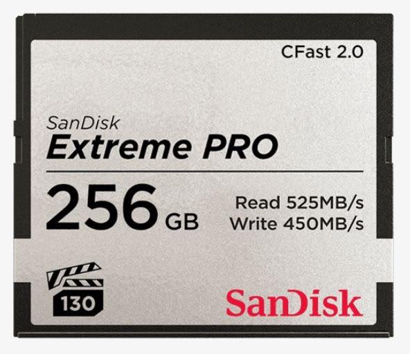 【公司貨】SanDisk Extreme PRO CF 256Gb 讀 525mb/s  寫450mb/s CFAST 2.0 記憶卡 256G
