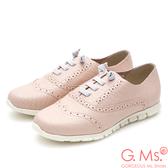 G.Ms. MIT超軟Q系列-牛津雕花假綁帶懶人鞋*粉色