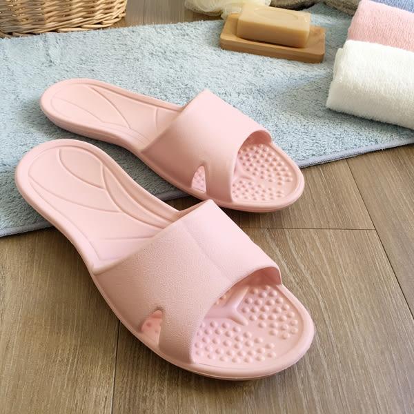 台灣製造-日光系列-一體成型輕巧室內拖鞋-粉