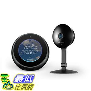 [107美國直購] 揚聲器 Echo Spot - Black + TP-Link Kasa Cam