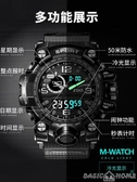 手錶軍人手錶戶外全自動機械雙顯戰術多功能野外生存男防水防摔電子錶 聖誕交換禮物