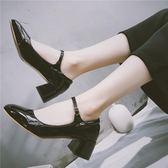 618大促2019日系瑪麗珍小皮鞋方頭軟妹Lolita復古文藝粗跟淺口單鞋扣帶女