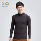 【WIWI】MIT溫灸刷毛立領發熱衣(經典黑 男S-3XL)