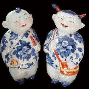 景德鎮 陶瓷人物工藝品 純手工雕刻