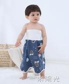 寶寶隔尿裙嬰兒隔尿墊尿布褲尿床神器兒童防漏防水可洗大號戒尿兜  聖誕節免運
