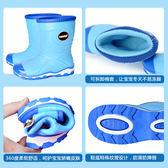 棉套兒童雨鞋男童女童防滑四季通用加絨韓國雨靴小孩膠鞋卡通學生水鞋