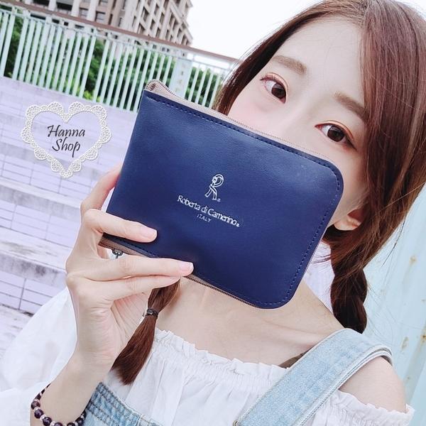 《花花創意会社》外流。R深藍塗鴉吊牌摺疊購物袋輕便環保好攜帶【H6909】