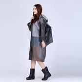 雨衣成人雨衣半透明長款戶外徒步旅游男女透明帽檐背包EVA雨衣部落