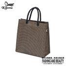 手提袋-編織袋(S)-咖啡黑-03C