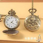 懷錶復古翻蓋鏤空十二生肖男女項鍊掛錶學生兒童通用石英錶 耶誕交換禮物