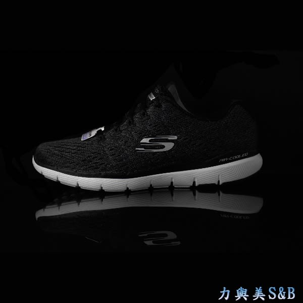 SKECHERS 女休閒慢跑鞋 FLEX APPEAL 3.0 高彈性 舒適好穿 適久走久站 深黑灰色鞋面 【1537】