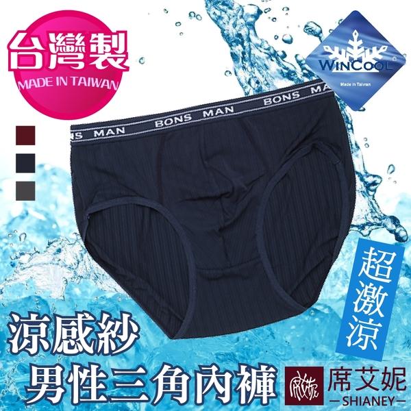 男性 MIT舒適 三角內褲 涼感紗材質 台灣製造 M-L-XL-XXL no.9186-席艾妮SHIANEY