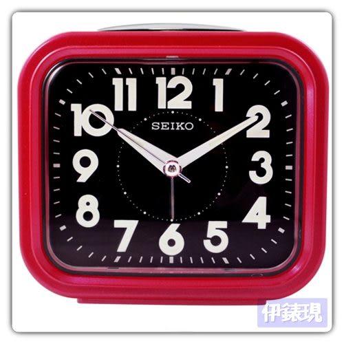 【日本精工-SEIKO】QHK023流線方型靜音夜光貪睡鬧鐘/時尚設計擺飾鬧鐘
