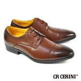 【CR CERINI】漸層染橫飾質感紳士鞋 咖啡(79082-DBR)