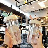 創意水滴雙層隔熱學生成人吸管水杯簡約便攜男女塑料隨行隨手杯子·皇者榮耀3C旗艦店