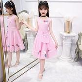 兒童洋裝連衣裙女童夏裝2021新款雪紡小女孩中大童洋氣公主裙寶寶裙子 快速出貨