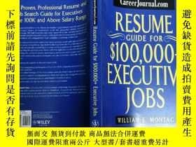 二手書博民逛書店CareerJournal.com罕見Resume Guide