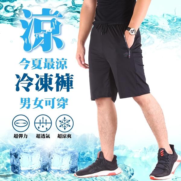 冰鋒褲 極冰涼 四面彈力 運動短褲 涼感褲【CS衣舖】#0635
