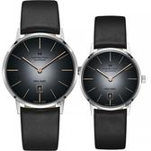Hamilton 漢米爾頓 美國經典機械情侶對錶-漸層灰 H38755781+H38455781