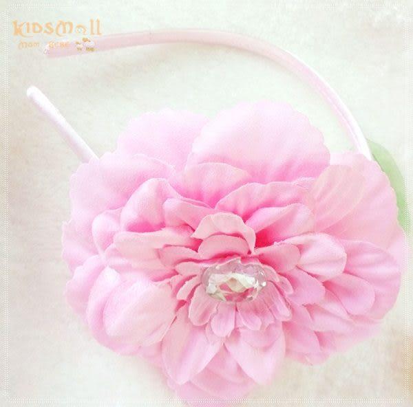 Cutie Bella牡丹花髮箍-Pinky