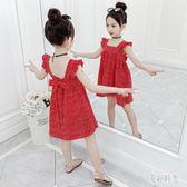 女童洋裝 女童連身裙夏裝2019新款小女孩夏季雪紡公主裙兒童洋氣裙子 zh5761『美好時光』