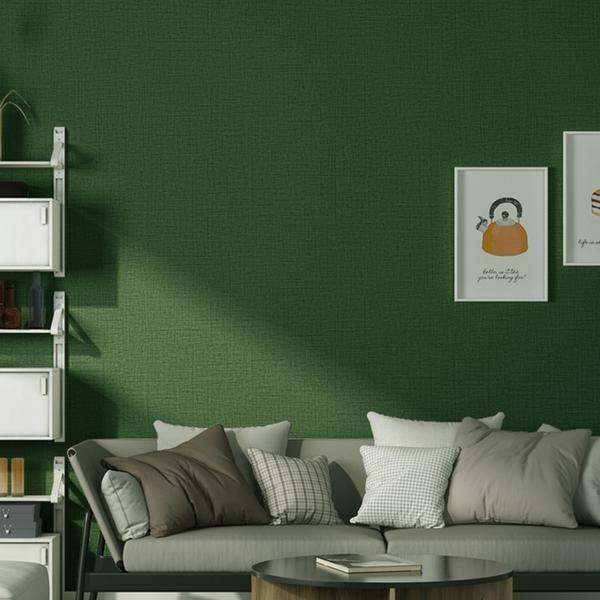 自黏北歐ins墨綠色網紅宿舍改造背景牆牆紙臥室防水溫馨翻新壁紙 電購3C
