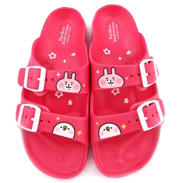 童鞋城堡-卡娜赫拉 女款 雙排扣超輕量拖鞋-KI0571 桃/黑 (共兩色)