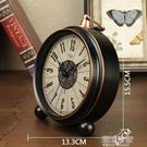 迪高美式復古客廳座鐘錶擺件床頭靜音鬧鐘桌面小台鐘臥室創意時鐘MBS『潮流世家』