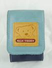 【震撼精品百貨】MILK TEDDY _泰迪熊 ~ 皮製置物包附鏡『藍』