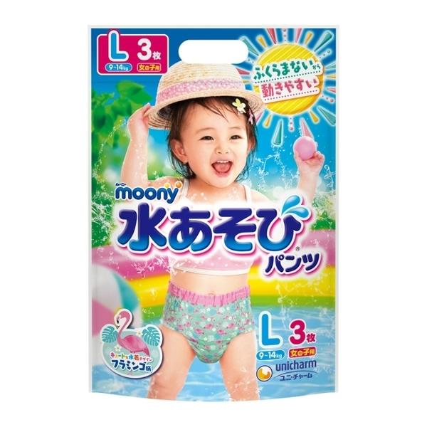 滿意寶寶 日本 MOONY 玩水褲女 L 24片-箱購