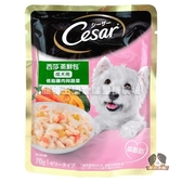 【寵物王國】西莎蒸鮮包-低脂雞肉與蔬菜70g【成犬用】