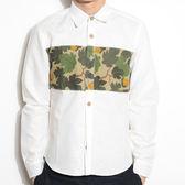 迷彩襯衫-修身白色襯衫純棉質歐洲休閒男長袖上衣71av29【時尚巴黎】