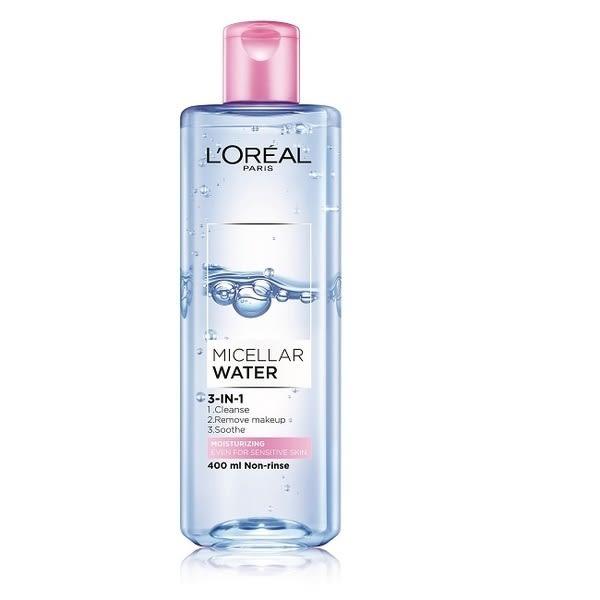 LOREAL 萊雅三合一卸妝潔顏水保濕型400ml◆四季百貨◆