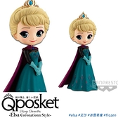 【Q posket】日本進口迪士尼公主系列公仔 FROZEN冰雪奇緣 Elsa艾莎(加冕款)