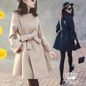 毛呢外套 女中長款韓版新款秋冬小個子收腰妮大衣