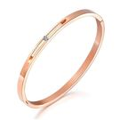【5折超值價】時尚精美簡約縷空鑲鑽造型女款鈦鋼手環