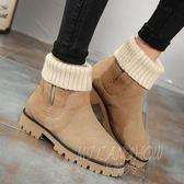 棉靴雪地靴厚底平跟馬丁靴短靴子大碼靴 小腳 米蘭shoe